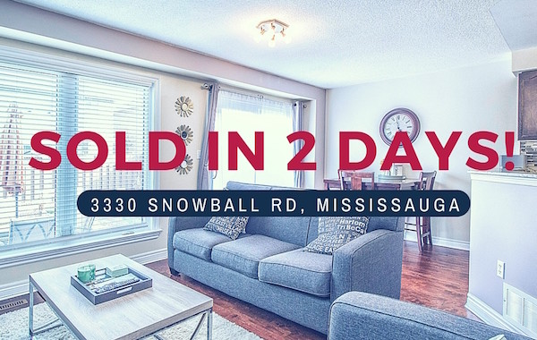 SOLD! – 3330 Snowball Road, Mississauga